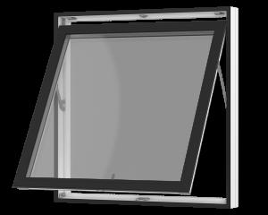 Rationel topstyret vindue. Kan bestilles i træ eller i en vedligeholdelses-fri  træ/alu udgave.  Modellen fås både i en retkantet moderne og klassisk udgave med profilerede karme.    Modellen leveres i en Basic version med 2 lag glas og i en Premium v