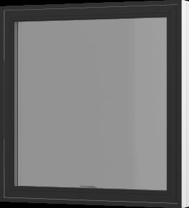 Rationel topvende vindue. Kan bestilles i træ eller i en vedligeholdelses-fri  træ/alu udgave.  Modellen fås både i en retkantet moderne og klassisk udgave med profilerede karme.    Modellen leveres i en Basic version med 2 lag glas og